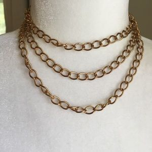 Long Gold Chain Necklace Can Be Doubled or Tripled